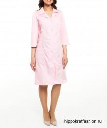 Халат медицинский Селена розовый