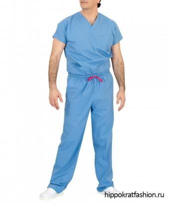 Костюм хирургический Оксижен голубой